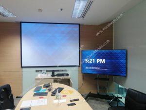 ติดตั้ง Video Conference โปรเจคเตอร์ จอรับภาพ และจอมอนิเตอร์